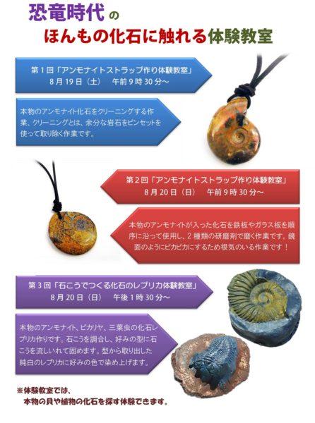 化石に触れる体験教室